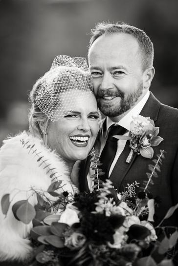 Wedding portrait by Denver wedding photographer.