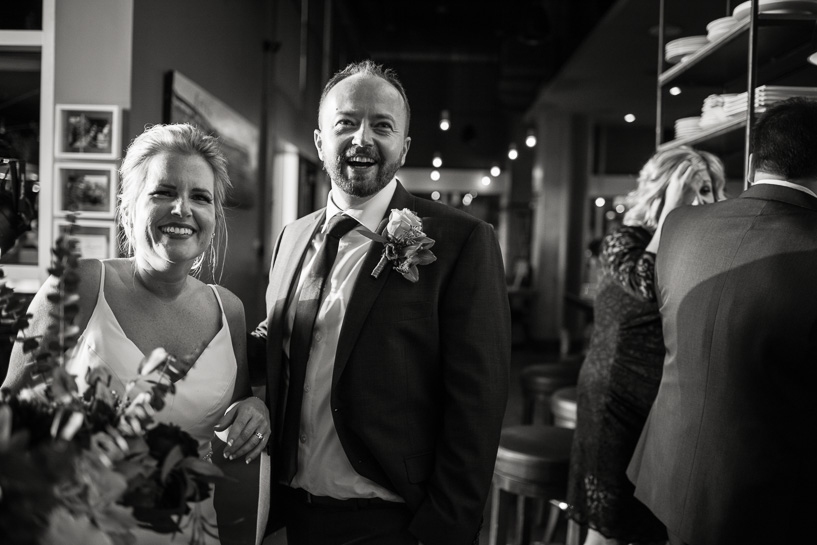 Bride and groom at Coohills wedding reception.