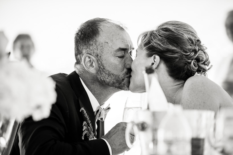 Wedding kiss by Denver documentary wedding photographer