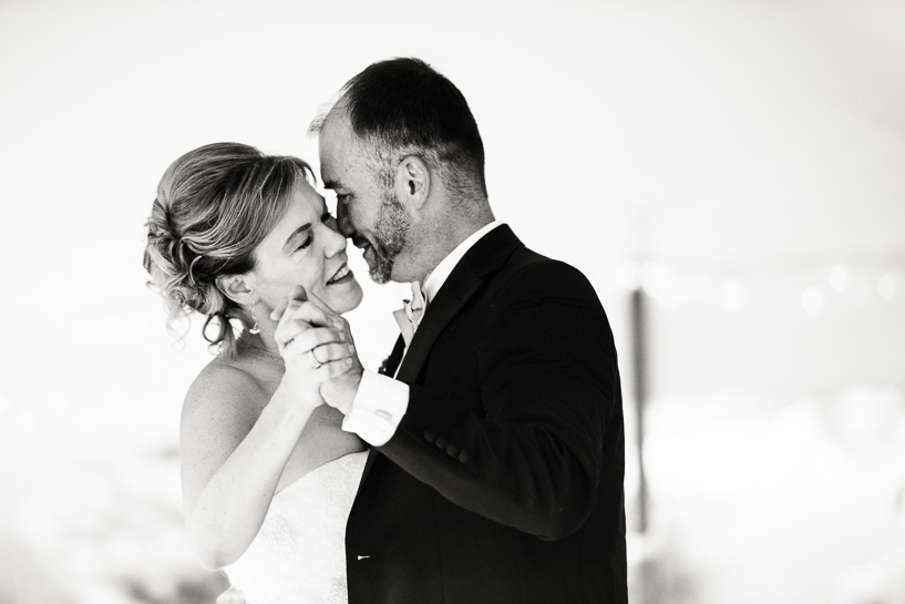 First dance at Gross Ile wedding by documentary photographer