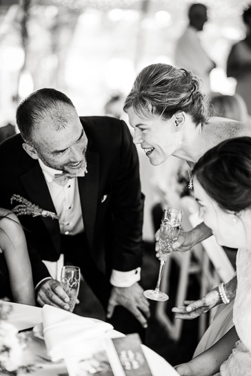 Couple with groom's daughter at Detroit wedding