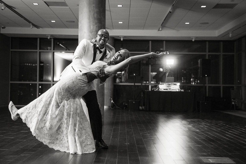 First dance at History Center Colorado wedding.