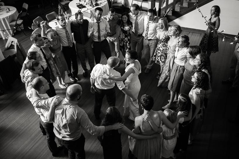 Denver wedding photographer captures last dance at Chautauqua Community Hall wedding.