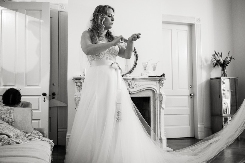 Denver wedding photojournalist covers bride getting ready in New Orleans