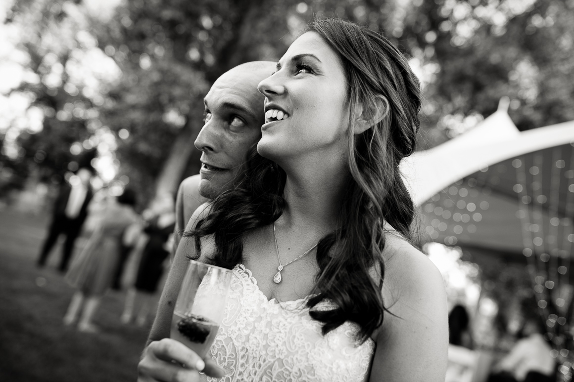 Colorado bride and groom at their garden wedding in Longmont.