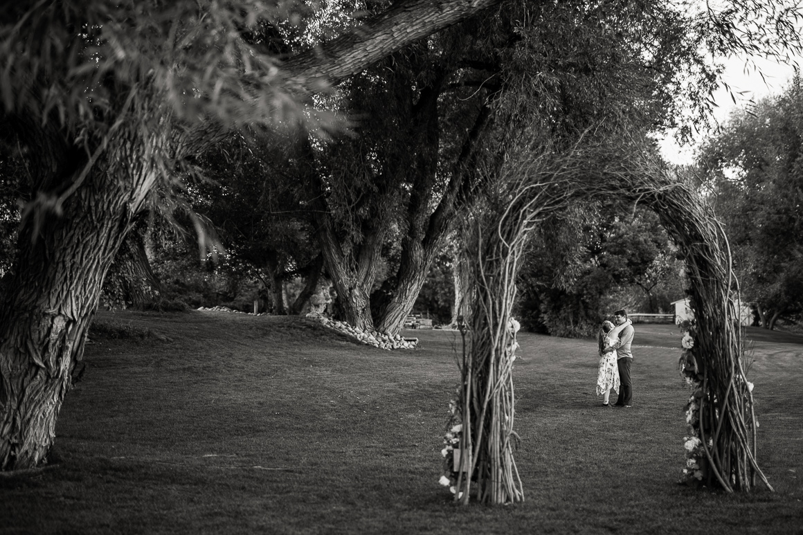 A stolen moment at a country wedding venue south of Ft. Collins.