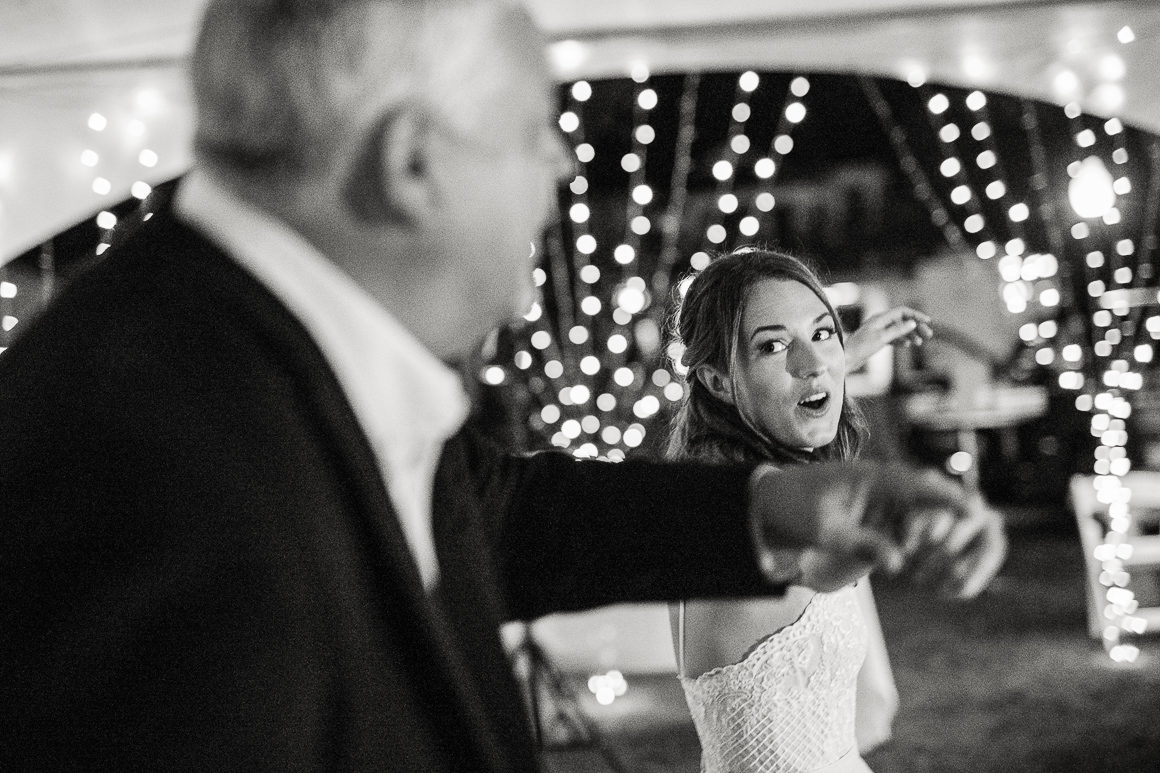 Father daughter dance at a front range wedding in Colorado.