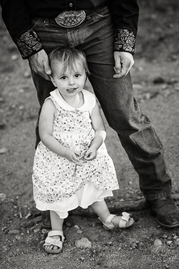 Young girl with father.
