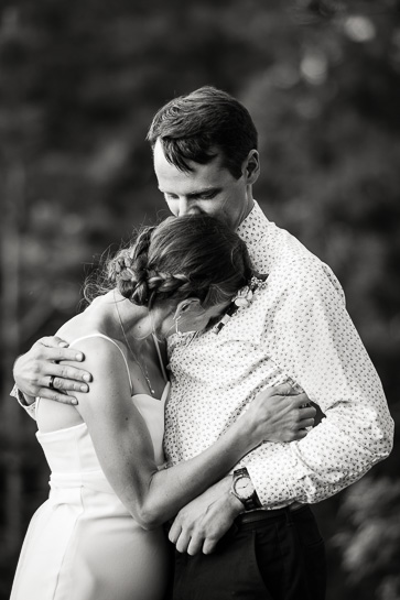 Couple at Colorado outdoor wedding by Denver wedding photojournalist