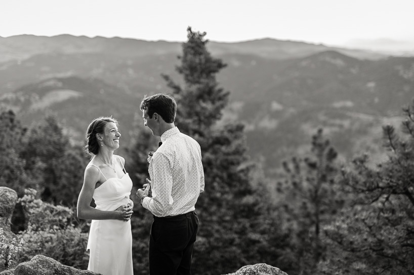 Mountaintop wedding by Denver wedding photojournalist