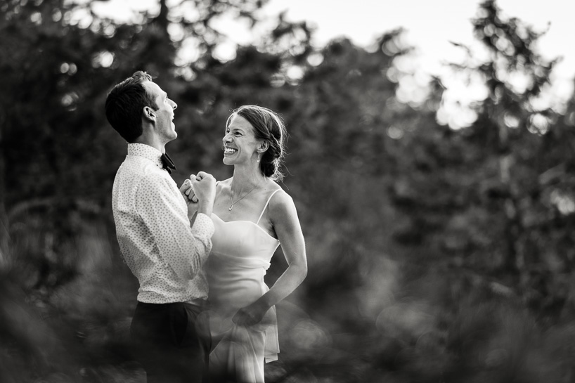 Colorado mountain wedding couple near Sunrise Amphitheater by Denver wedding photojournalist.