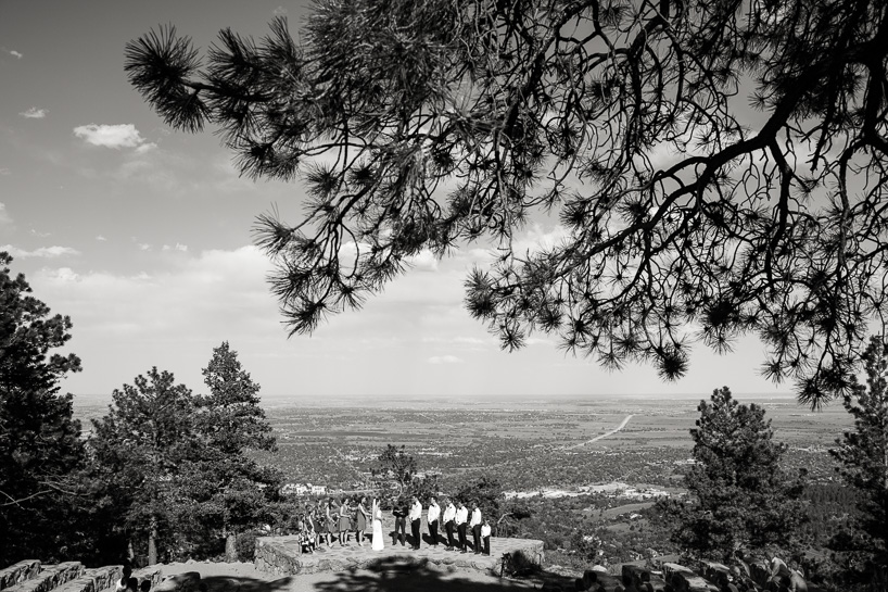 Wedding ceremony at Sunrise Amphitheater in Boulder